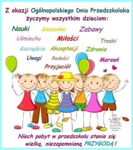 Życzenia z okazji Ogólnopolskiego Dnia Przedszkolaka
